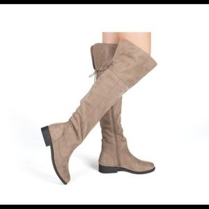 Tan Qupid Over the Knee Boots